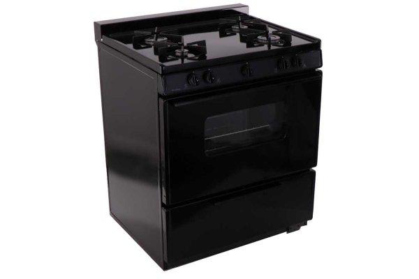 "Large image of Premier 30"" Black Cordless Gas Range - BMK5X0BP"
