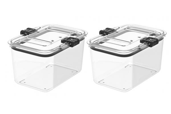 Large image of Prepara Latchlok 7.8 Cup Tritan Food Storage Container (Set of 2) - LL25144
