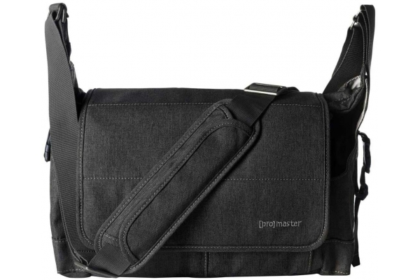 Large image of ProMaster Charcoal Grey Cityscape 130 Courier Bag - PRO8706