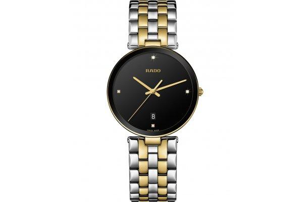 Large image of Rado Florence Diamonds Quartz Watch, Black Dial, 38mm - R48867713