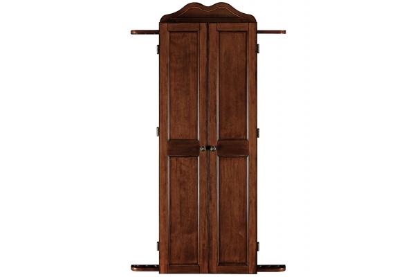 Large image of Ram Game Room Chestnut Dart Cabinet & Cue Holder - DCAB2CN