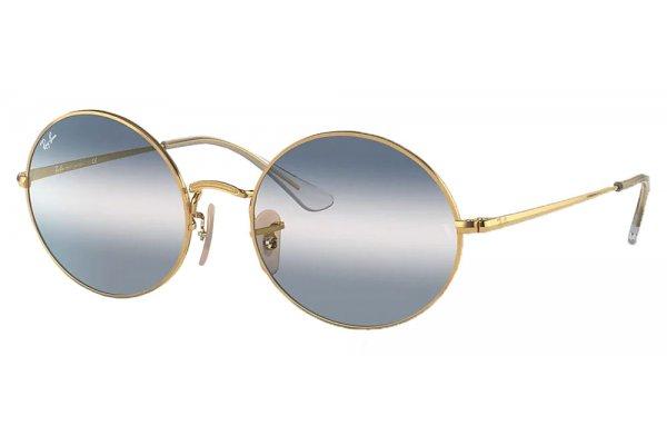 Large image of Ray-Ban Oval 1970 Bi-Gradient Sunglasses, 54mm - RB1970001GA54