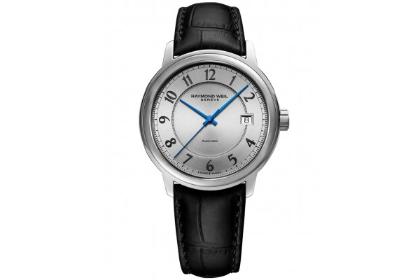 Large image of Raymond Weil Maestro Automatic Silver Arabic Dial Watch, 40mm - 2237STC05658
