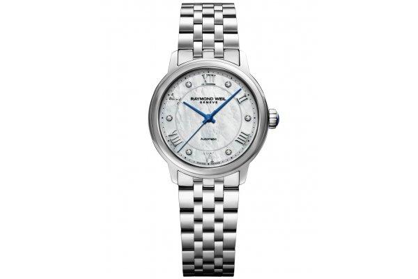 Large image of Raymond Weil Maestro Automatic MOP Diamond Bracelet Watch, 31mm - 2131ST00966