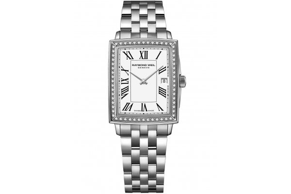 Large image of Raymond Weil Toccata Quartz Diamond Stainless Steel Watch, White Dial, 25mm - 5925STS00300