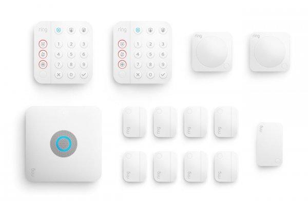 Large image of Ring 14 Piece White Alarm Pro Security Kit - B08HSVCB5M