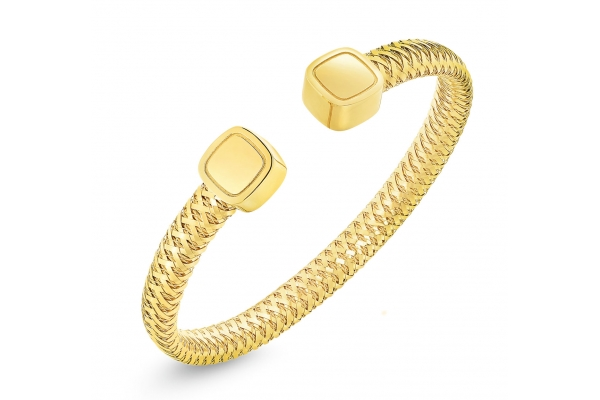 Large image of Roberto Coin 18KT Gold Primavera Flexible Cuff - 5574012AYBA0