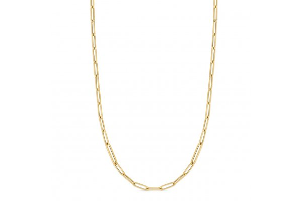 """Large image of Roberto Coin 18K Yellow Gold Designer Gold 7"""" Paperclip Link Chain Bracelet - 5310135AYLB0"""