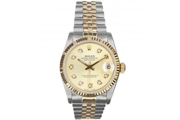 Large image of Rolex Oyster Perpetual Datejust Two-Tone Jubilee Pre-Owned Watch, Champagne Dial, 31mm - 20220