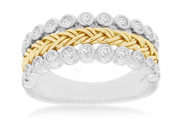 Large image of Royal Jewelry 14K White Gold Diamond Wedding Band - WC8525D