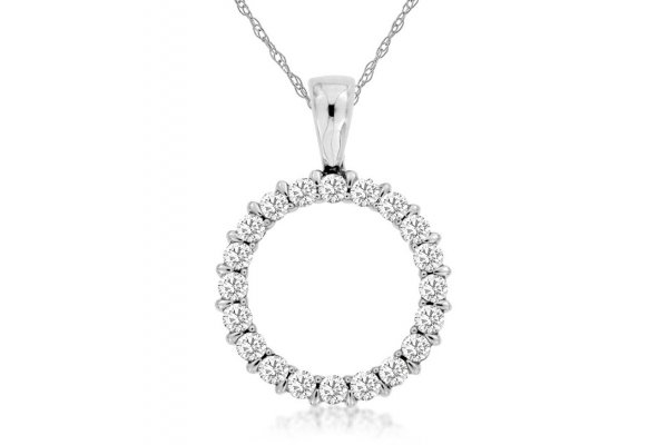 Large image of Royal Jewelry 14K White Gold Diamond Pendant - WC8380D