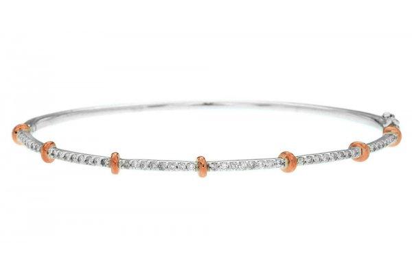 Large image of Royal Jewelry 14K White Gold Diamond Bangle - WC6708D