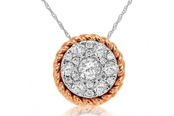 Large image of Royal Jewelry 14K White Gold Diamond Pendant - WC8261D