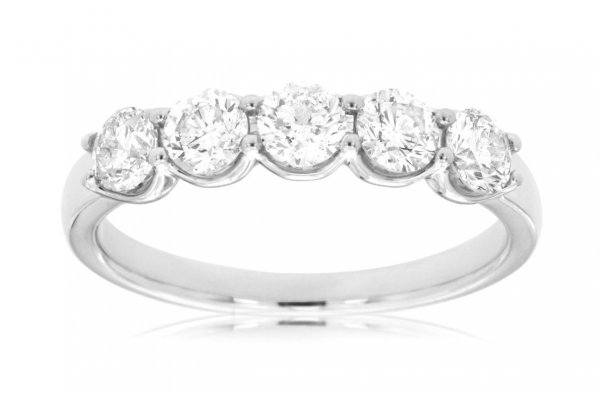 Large image of Royal Jewelry 14K White Gold Diamond Wedding Band - WC8033D