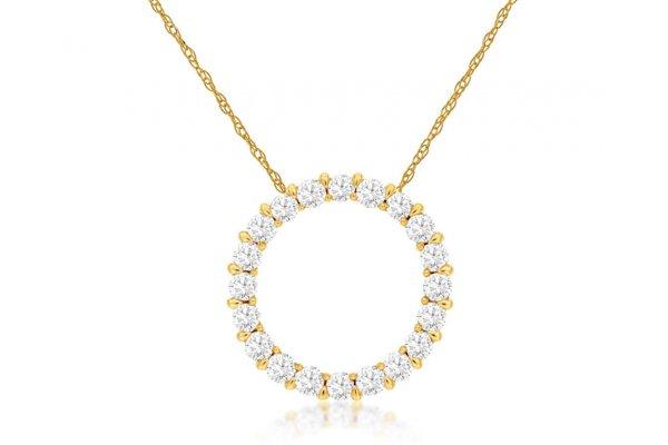 Large image of Royal Jewelry 14K Yellow Gold Diamond Pendant - C6198D