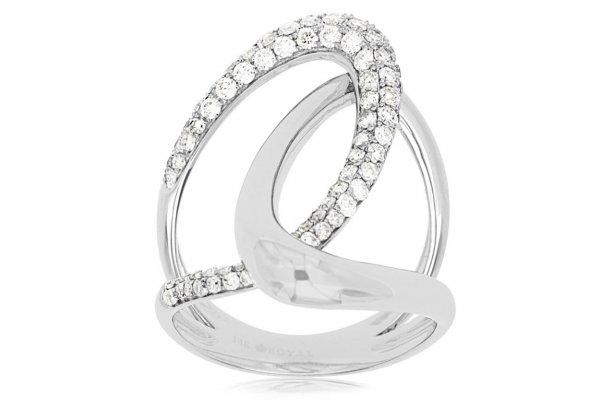 Large image of Royal Jewelry 14K White Gold Ladies Diamond Ring - WC7512D