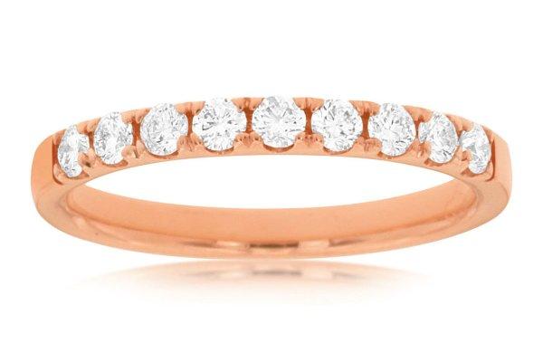 Large image of Royal Jewelry 14K Rose Gold Diamond Ring - PR3898