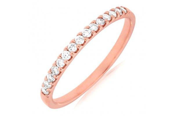 Large image of Royal Jewelry 14K Rose Gold Ladies Diamond Ring - PR3882D