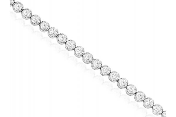 Large image of Royal Jewelry 14K White Gold Diamond Bracelet - WC9476D