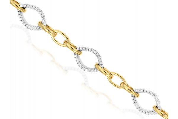 Large image of Royal Jewelry 14K White Gold Diamond Bracelet - WC9592D