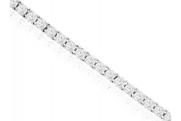 Large image of Royal Jewelry 14K White Gold Diamond Bracelet - WC9192D