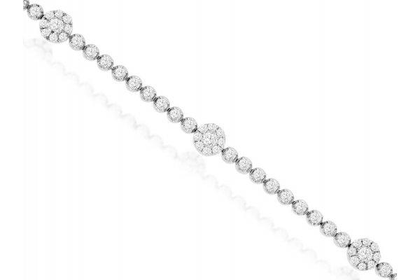 Large image of Royal Jewelry 14K White Gold Diamond Bracelet - WC9534D