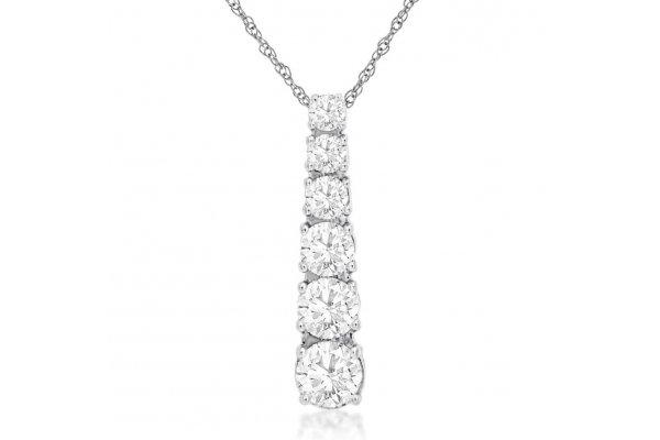 Large image of Royal Jewelry 14K White Gold Diamond Pendant - WC9802D