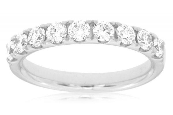 Large image of Royal Jewelry 14K White Gold Diamond Ring - W3899