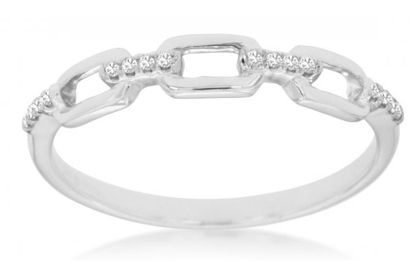 Large image of Royal Jewelry 14K White Gold Diamond Wedding Band - WC8603D