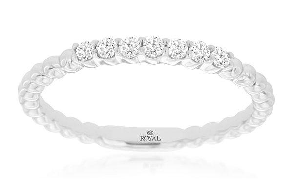 Large image of Royal Jewelry 14K White Gold Diamond Wedding Band - WC9480D