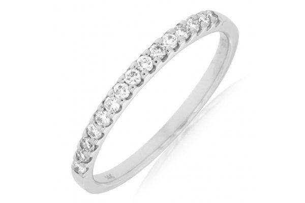 Large image of Royal Jewelry 14K White Gold Ladies Diamond Ring - W3882D