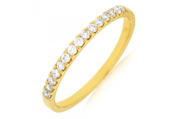 Large image of Royal Jewelry 14K Yellow Gold Ladies Diamond Ring - 3882D