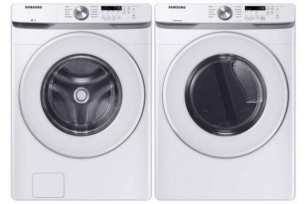 Large image of Samsung White Front Load Washer with Electric Dryer - SAMALAUNDRY13