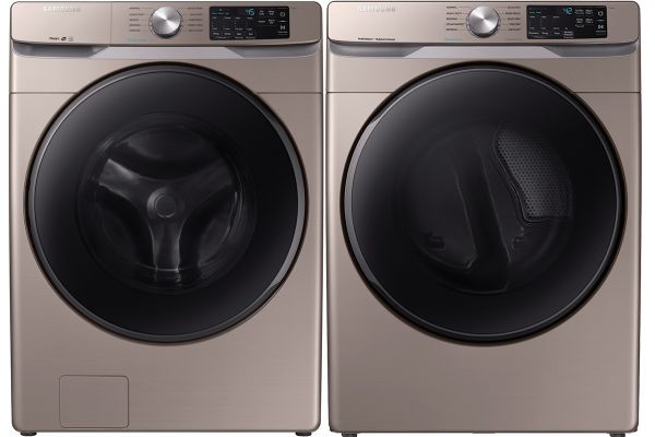 Large image of Samsung Champagne Front Load Steam Washer with Electric Dryer - SAMALAUNDRY7