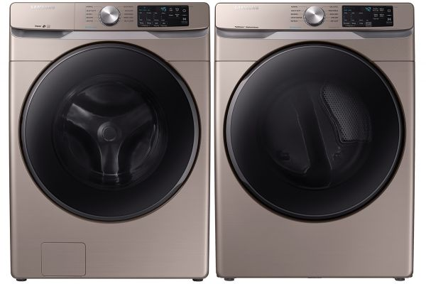 Large image of Samsung Champagne Front Load Steam Washer with Gas Dryer - SAMALAUNDRY8