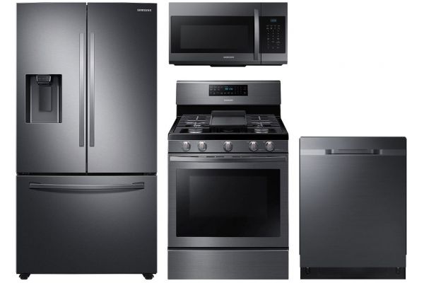 Large image of Samsung 27 Cu. Ft. French Door Refrigerator & Gas Range Package - SAMAPACK7