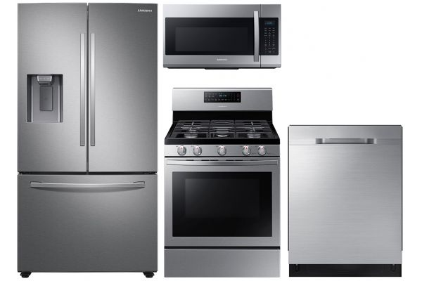 Large image of Samsung 27 Cu. Ft. French Door Refrigerator With Gas Range Package - SAMAPACK10