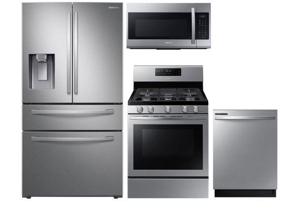 Large image of Samsung 28 Cu. Ft. 4-Door Refrigerator & Gas Range Package - SAMAPACK15