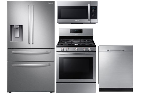 Large image of Samsung 23 Cu. Ft. French Door Refrigerator With Gas Range Package - SAMAPACK16