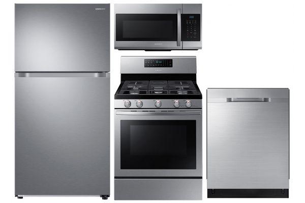 Large image of Samsung 21 Cu. Ft. Top Freezer Refrigerator & Gas Range Package - SAMAPACK6