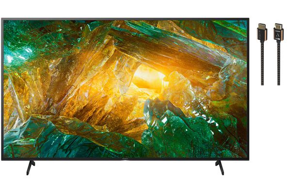 """Sony 85"""" X800H Black LED 4K Ultra HD HDR Smart HDTV with HDMI Cable Package - SONYPACK6"""