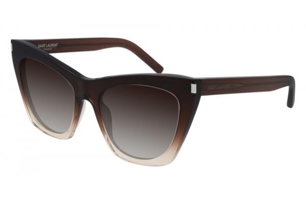 Large image of Saint Laurent Brown SL 214 KATE Graident Sunglasses 55mm - SL214KATE-016