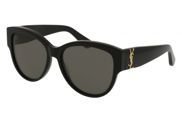 Large image of Saint Laurent Cat Eye Black Sunglasses 55mm - SLM3-002