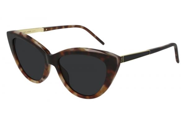 Large image of Saint Laurent Monogram SL M81 Havana Sunglasses 55mm - SLM81-004