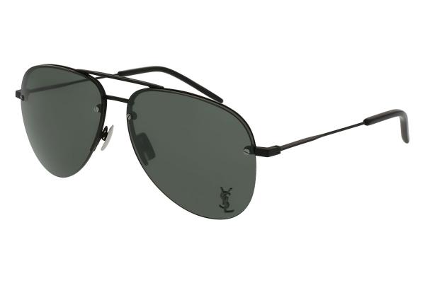 Large image of Saint Laurent Black Aviator Unisex Sunglasses - CLASSIC-11 M-001 59