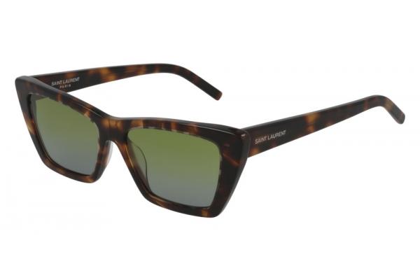 Large image of Saint Laurent New Wave SL 276 Mica Havana Sunglasses 53mm - SL 276 MICA -020
