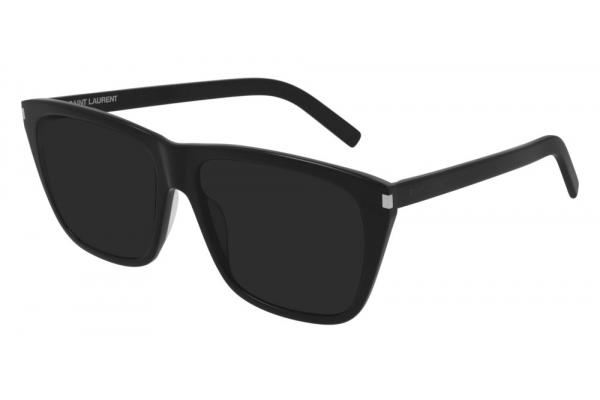 Large image of Saint Laurent Classic SL 431 Slim Black Sunglasses 57mm - SL431-001