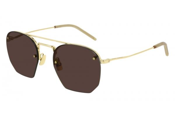 Large image of Saint Laurent Gold New Wave SL 422 Rimless Sunglasses 52mm - SL422-001