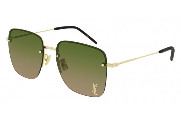 Large image of Saint Laurent Monogram SL 312 M Green Gradient Sunglasses 58mm - SL312M-003
