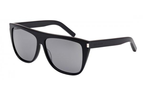 Large image of Saint Laurent SL 1 Grey Mirror Sunglasses, Black Frames, 59mm - SL100159